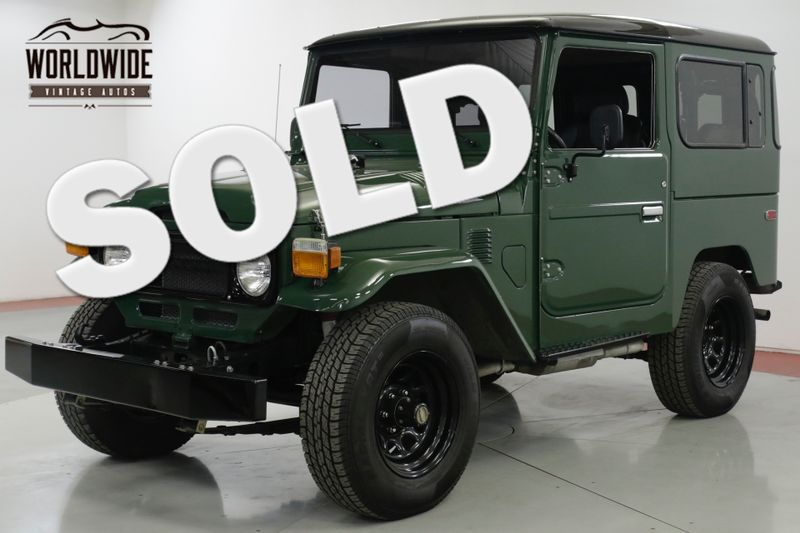 1979 Toyota LAND CRUISER FJ40 V8 350 5 SPEED RESTORED | Denver, CO | Worldwide Vintage Autos