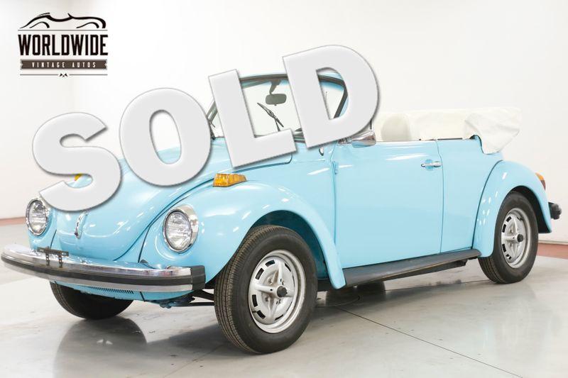 1979 Volkswagen BEETLE SUPER BEETLE BUG CONVERTIBLE 2 OWNER CA CAR  | Denver, CO | Worldwide Vintage Autos