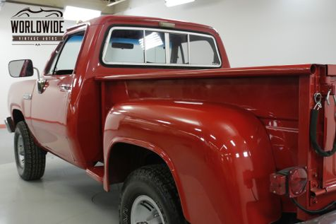 1980 Dodge POWER WAGON  W150, RESTORED 4x4, PS, PB, REBUILT V8. 1K  | Denver, CO | Worldwide Vintage Autos in Denver, CO
