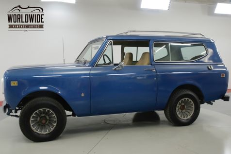 1980 International SCOUT RARE LATER PRODUCTION 4x4! CONVERTIBLE! | Denver, CO | Worldwide Vintage Autos in Denver, CO