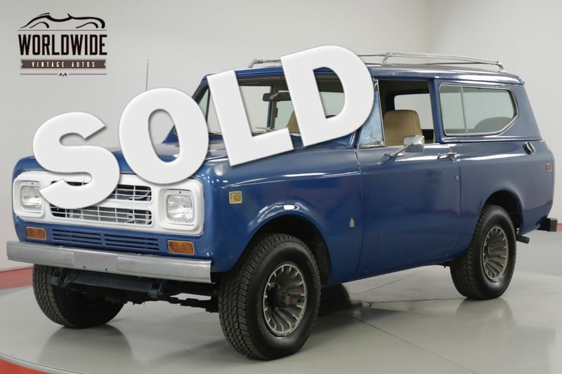 1980 International SCOUT RARE LATER PRODUCTION 4x4! CONVERTIBLE! | Denver, CO | Worldwide Vintage Autos
