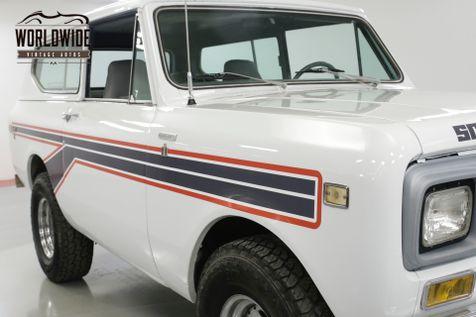 1980 International SCOUT TURBO DIESEL VINTAGE AC PS PB 4x4 1 YR ONLY  | Denver, CO | Worldwide Vintage Autos in Denver, CO