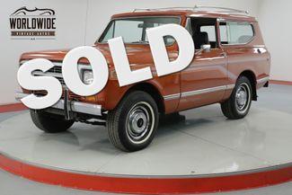 1980 International SCOUT II   RARE TURBO DIESEL TIME CAPSULE 32K MILES | Denver, CO | Worldwide Vintage Autos in Denver CO