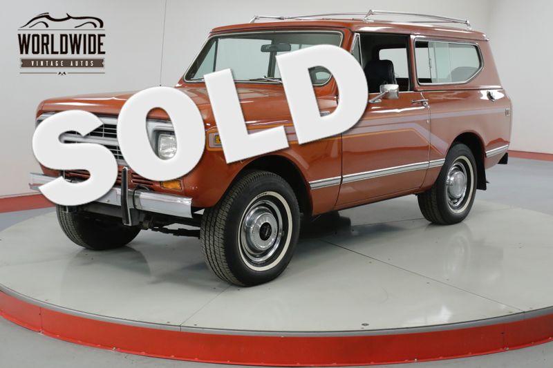 1980 International SCOUT II   RARE TURBO DIESEL TIME CAPSULE 32K MILES | Denver, CO | Worldwide Vintage Autos