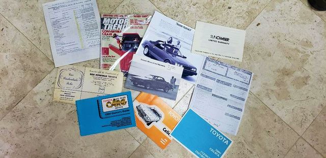 1980 Toyota CELICA GT 1 OF 500 SUNCHASERS 58K MILES WITH ALL DOCUMENTS Phoenix, Arizona 4