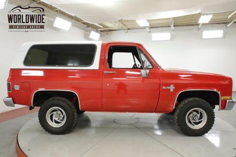 1981 Chevrolet BLAZER  RESTORED. SILVERADO. V8. AC! 4X4. PS. PB.  | Denver, CO | Worldwide Vintage Autos in Denver, CO