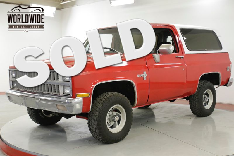 1981 Chevrolet BLAZER  RESTORED. SILVERADO. V8. AC! 4X4. PS. PB.  | Denver, CO | Worldwide Vintage Autos
