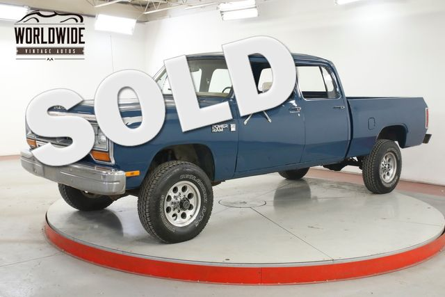 1981 Dodge POWER RAM  CREW CAB 4X4 PS PB V8 ULTRA RARE NEW PAINT  | Denver, CO | Worldwide Vintage Autos in Denver CO