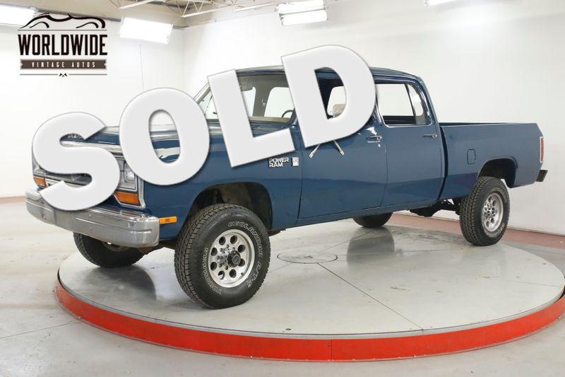 1981 Dodge POWER RAM  CREW CAB 4X4 PS PB V8 ULTRA RARE NEW PAINT  | Denver, CO | Worldwide Vintage Autos