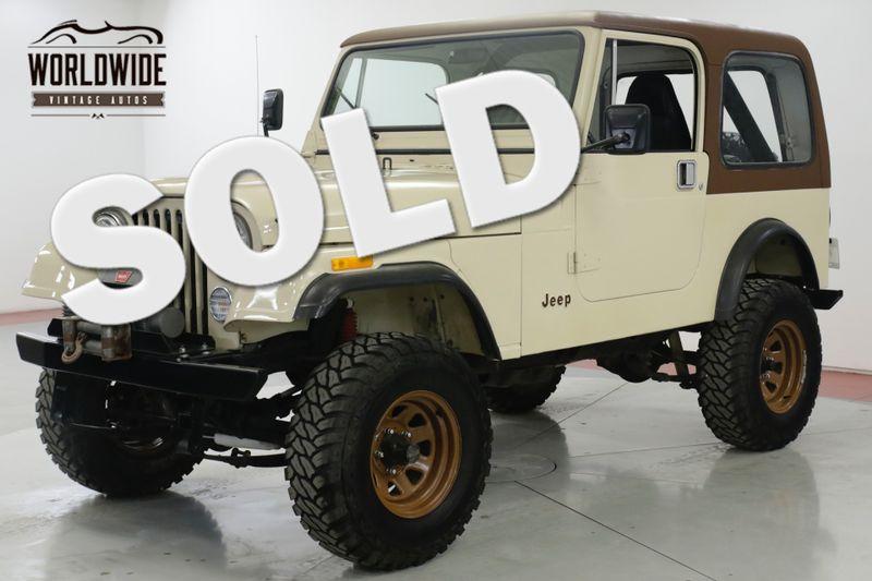 1982 Jeep CJ7  PS PB HARDTOP REBUILT MOTOR 2K MI 4x4 WINCH  | Denver, CO | Worldwide Vintage Autos