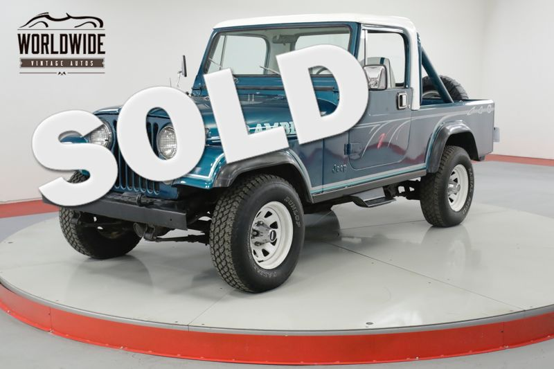 1982 Jeep SCRAMBLER RESTORED 2.5 4 CYLINDER PS PB REMOVABLE TOP 4X4  | Denver, CO | Worldwide Vintage Autos