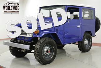 1982 Toyota LAND CRUISER FJ40 FRAME OFF RESTORATION PS PB | Denver, CO | Worldwide Vintage Autos in Denver CO
