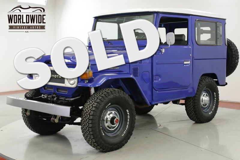 1982 Toyota LAND CRUISER FJ40 FRAME OFF RESTORATION PS PB | Denver, CO |  Worldwide Vintage Autos | Denver CO 80216