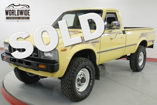 1982 Toyota PICKUP HILUX STRAIGHT AXLE 4x4 RARE LOW MILES 5 SPD | Denver, CO | Worldwide Vintage Autos in Denver CO
