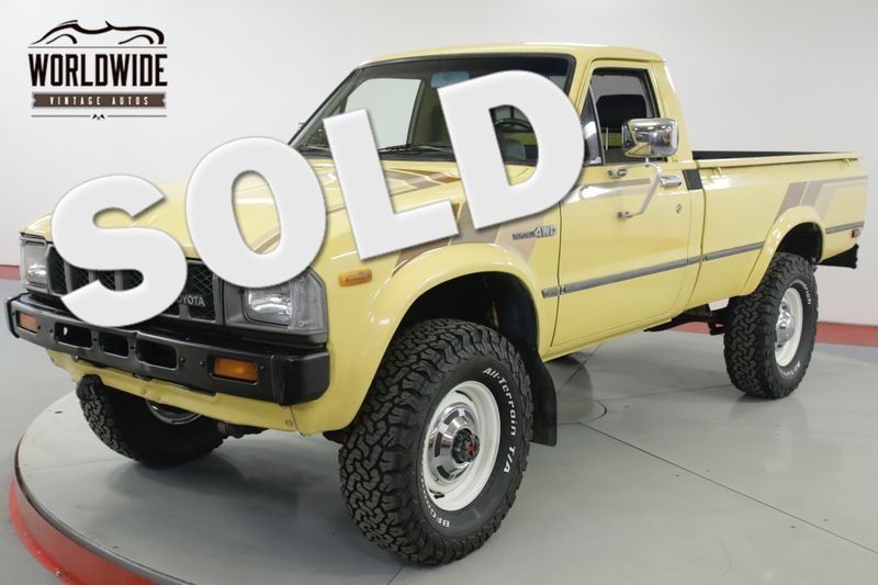 1982 Toyota PICKUP HILUX STRAIGHT AXLE 4x4 RARE LOW MILES 5 SPD | Denver, CO | Worldwide Vintage Autos