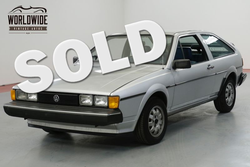 1982 Volkswagen SCIROCCO ONE OWNER. VERY CLEAN. COLLECTOR QUALITY.   Denver, CO   Worldwide Vintage Autos