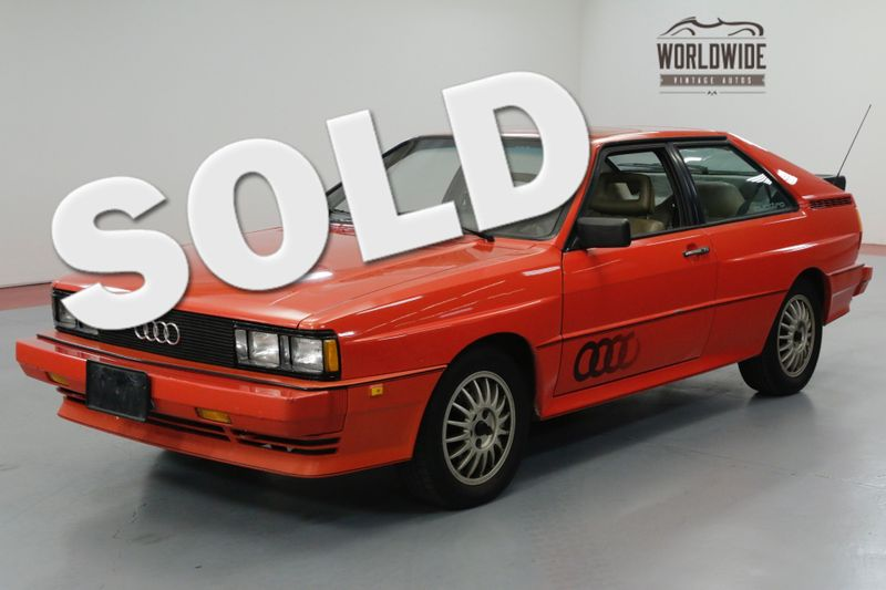 1983 Audi QUATTRO COLLECTOR! 1 OF 664! ORIGINAL PAINT! 1 OWNER  | Denver, CO | Worldwide Vintage Autos