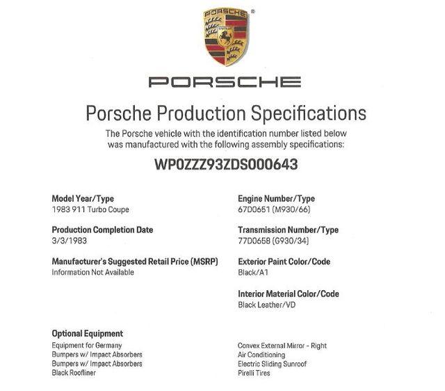 1983 Porsche 911 Turbo-[ 2 ]