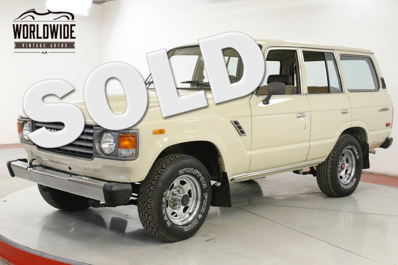 1983 Toyota LAND CRUISER FJ60 91K ORIGINAL MILES COLLECTOR GRADE CA CAR | Denver, CO | Worldwide Vintage Autos