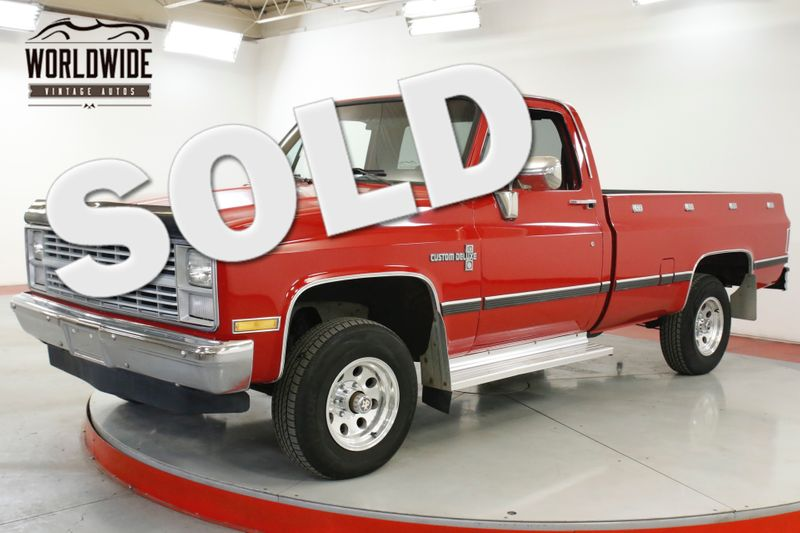1984 Chevrolet K10 PICKUP TRUCK 4X4 PS PB 350 SMALL BLOCK  | Denver, CO | Worldwide Vintage Autos