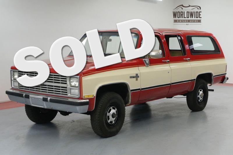 1984 Chevrolet SUBURBAN 2500 350 AUTO 72K MILES! 4X4 RARE COLLECTOR PS PB  | Denver, CO | Worldwide Vintage Autos