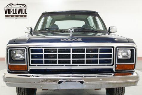 1984 Dodge RAMCHARGER V8 TIME CAPSULE 1OWNER HEAVILY DOCUMENTED | Denver, CO | Worldwide Vintage Autos in Denver, CO