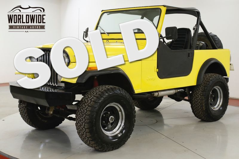 1984 Jeep  CJ7 327 CONVERTIBLE READY FOR SUMMER PS PB  | Denver, CO | Worldwide Vintage Autos