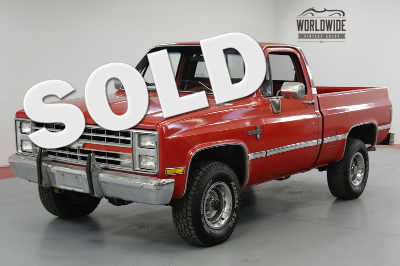 1985 Chevrolet TRUCK K10 SILVERADO. 350 V8. AUTO. PS. PB. PW 4x4  | Denver, CO | Worldwide Vintage Autos