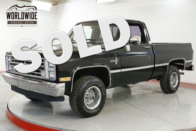 1985 Chevrolet SILVERADO CLEAN AUTOCHECK 350 V8 4X4 SHORTBOX AC  | Denver, CO | Worldwide Vintage Autos in Denver CO