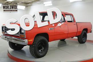 1985 Dodge PICKUP RARE 4 DOOR CREW CAB V8 AUTO PS PB 4X4 | Denver, CO | Worldwide Vintage Autos in Denver CO