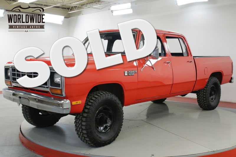 1985 Dodge PICKUP RARE 4 DOOR CREW CAB V8 AUTO PS PB 4X4 | Denver, CO | Worldwide Vintage Autos