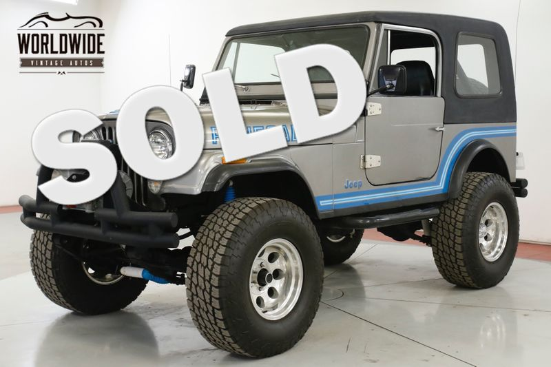 1985 Jeep CJ7  RENEGADE RESTORED COLD AC! V8 PS PB WINCH LIFT 4x4 | Denver, CO | Worldwide Vintage Autos