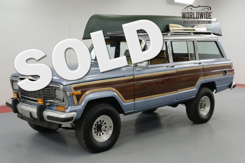 1985 Jeep GRAND WAGONEER TAN LEATHER V8 4X4 FACTORY LUGGAGE RACK | Denver, CO | Worldwide Vintage Autos