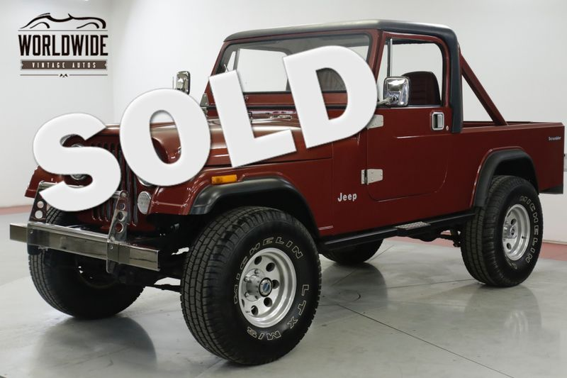 1985 Jeep SCRAMLER  CJ8. FRAME OFF RESTORED JASPER CRATE CJ7 CJ5  | Denver, CO | Worldwide Vintage Autos