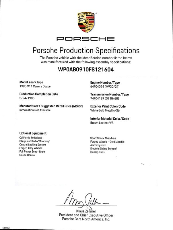 1985 Porsche 911 Coupe | Concord, CA | Carbuffs | Concord CA 94520