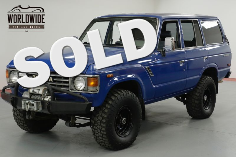 1985 Toyota FJ60 TOYOTA FJ 60 4 ON THE FLOOR LAND CRUISER  | Denver, CO | Worldwide Vintage Autos