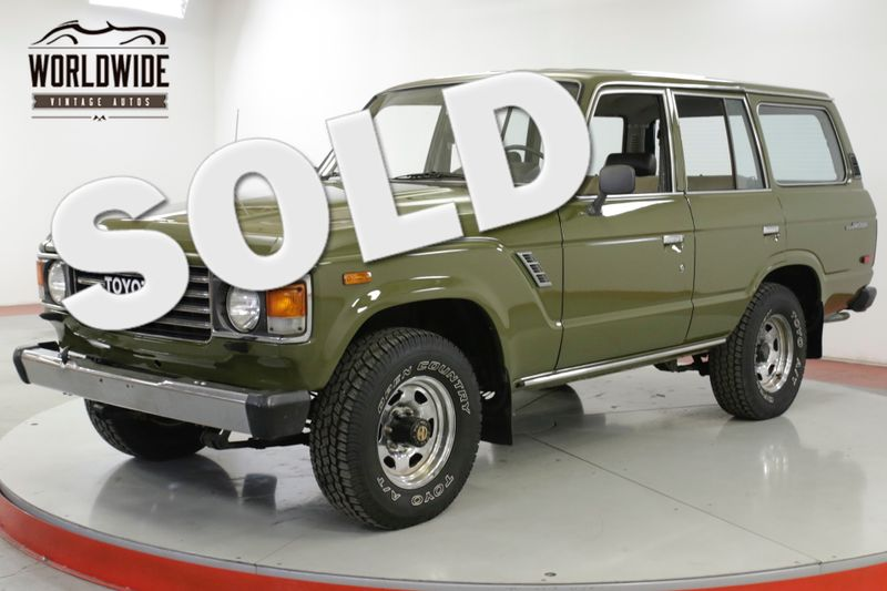 1985 Toyota LAND CRUISER FJ60 COLLECTOR ORIGINAL LOW MILES PS PB | Denver, CO | Worldwide Vintage Autos