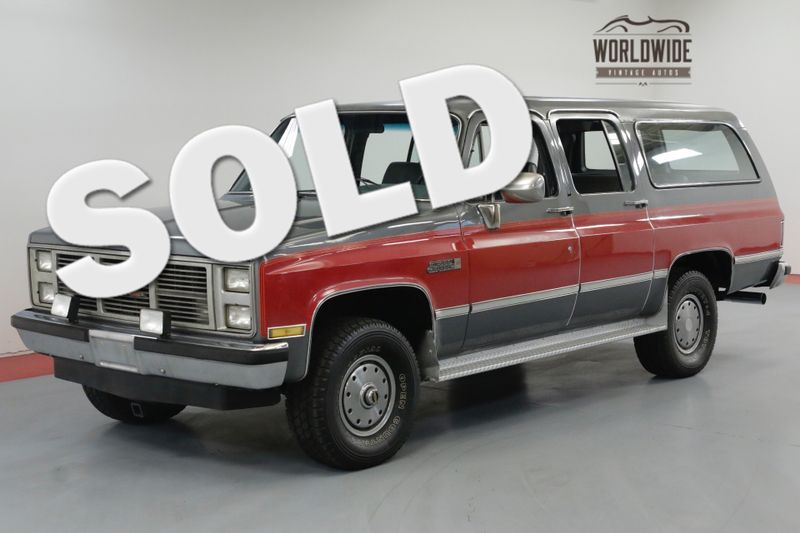 1986 GMC SUBURBAN 4x4. COLLECTOR GRADE TIME CAPSULE. 1 OWNER! | Denver, CO | Worldwide Vintage Autos