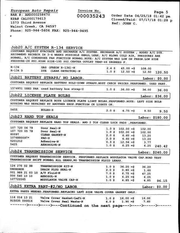 1986 Mercedes-Benz 560 Series 560SL | Concord, CA | Carbuffs in Concord, CA