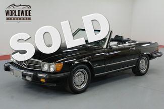 1986 Mercedes-Benz 560SL TRIPLE BLACK! IMMACULATE. LOW MILES. COLD A/C. | Denver, CO | Worldwide Vintage Autos in Denver CO