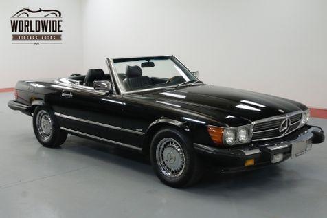 1986 Mercedes-Benz 560SL TRIPLE BLACK! IMMACULATE. LOW MILES. COLD A/C.   Denver, CO   Worldwide Vintage Autos in Denver, CO