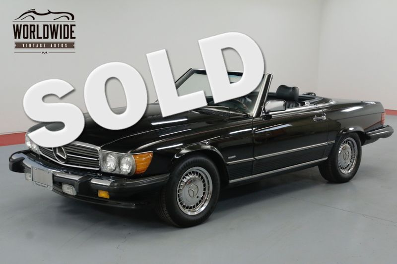 1986 Mercedes-Benz 560SL TRIPLE BLACK! IMMACULATE. LOW MILES. COLD A/C. | Denver, CO | Worldwide Vintage Autos