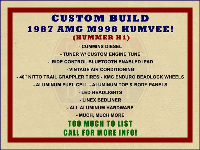 1987 Amg M998 Humvee (HUMMER H1) CUSTOM BUILD! Mooresville , NC 1