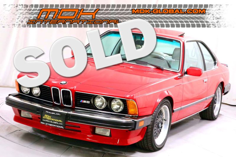 1987 BMW 6 Series M6 - Dinan Turbo - Only 66K miles  city California  MDK International  in Los Angeles, California