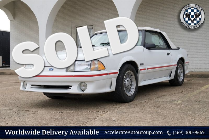 1987 Ford Mustang GT CONV, ONLY 27,999 ACTUAL MILES, CLEAN CARFAX in Rowlett Texas