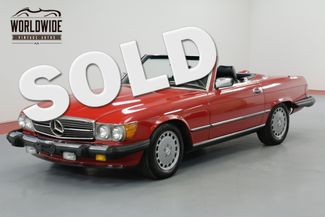 1987 Mercedes-Benz 560SL RARE RED WITH BLACK SOFT TOP A/C BLOWS COLD | Denver, CO | Worldwide Vintage Autos in Denver CO