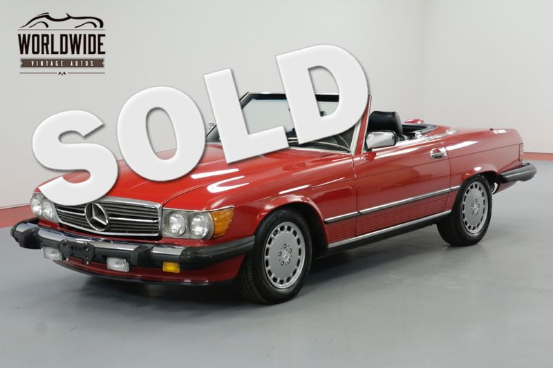 1987 Mercedes-Benz 560SL RARE RED WITH BLACK SOFT TOP A/C BLOWS COLD   Denver, CO   Worldwide Vintage Autos
