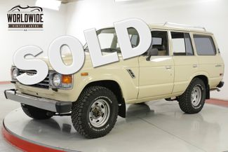 1987 Toyota LAND CRUISER FJ60 4X4, 4 SPEED  | Denver, CO | Worldwide Vintage Autos in Denver CO