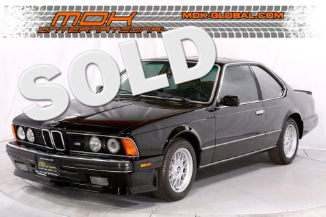 1988 BMW M6 - Restored - 5 Speed - Black over tan in Los Angeles