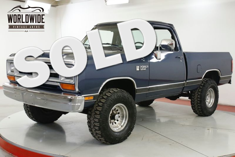 1988 Dodge POWER RAM  W100 TRUCK 10K MI 4X4 V8 PS PB ROLL BAR | Denver, CO | Worldwide Vintage Autos